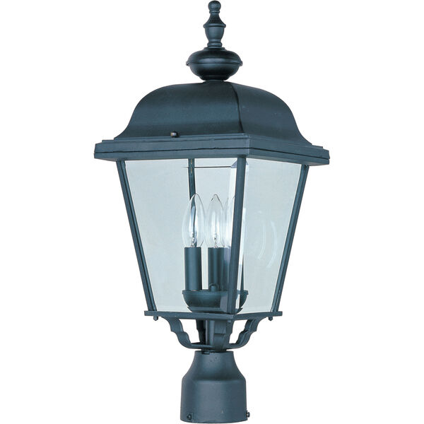Builder Cast Three-Light Outdoor Pole/Post Lantern, image 1