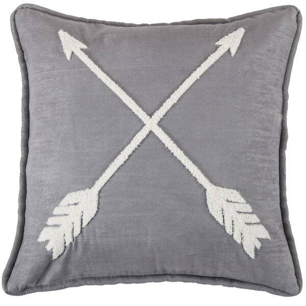 Free Spirit Gray and White 18 In. X 18 In. Arrow Throw Pillow, image 1