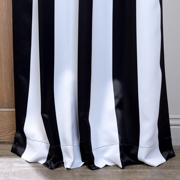 Awning Black and White Stripe 108 x 50-Inch Blackout Curtain Single Panel, image 3