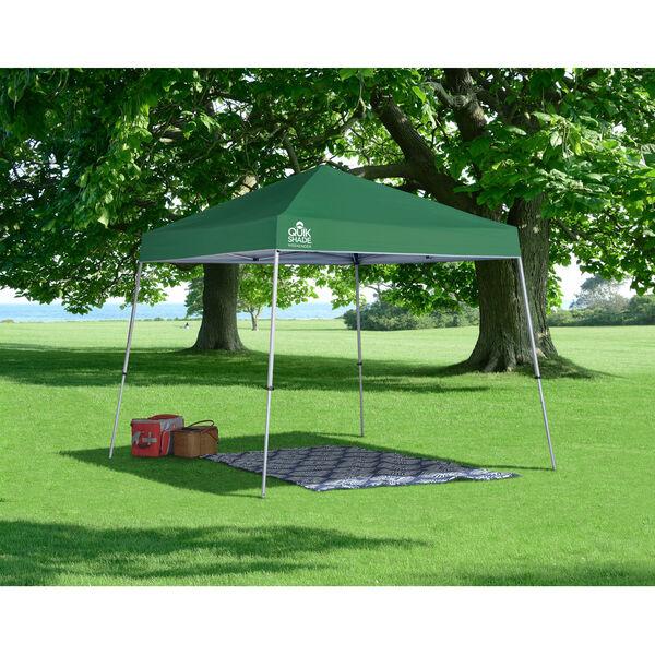 Green Silver 10 x 10 Slant Leg Pop-Up Canopy, image 3