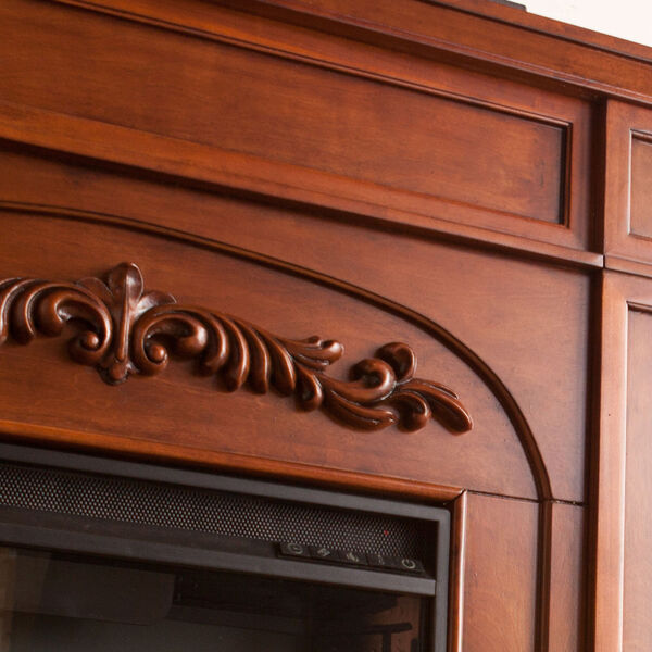 Chantilly Autumn oak Color Changing Electric Firplace with Bookcase, image 3