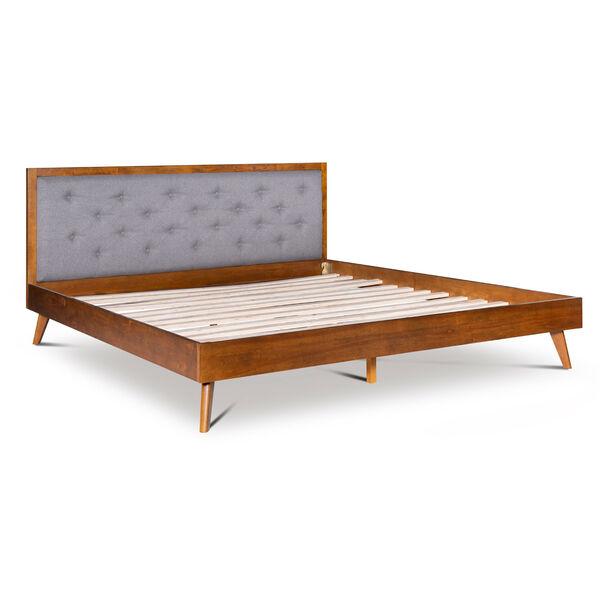 Ian Walnut Platform King Bed, image 2