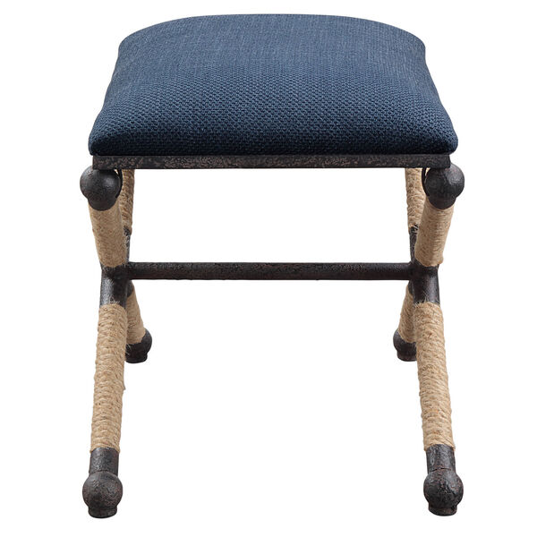 Firth Small Navy Blue Bench, image 4