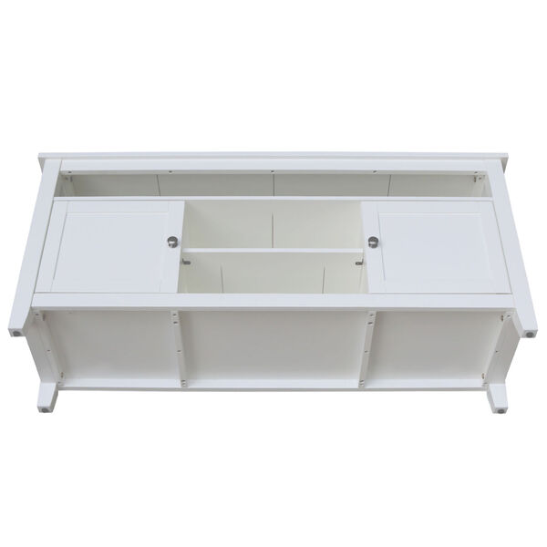 White 57-Inch TV Stand with Two Door, image 5