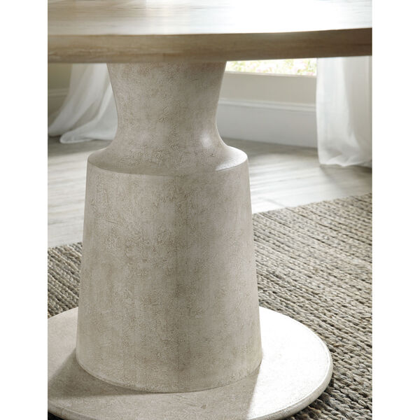 Cascade Taupe Round Pedestal Dining Table, image 3