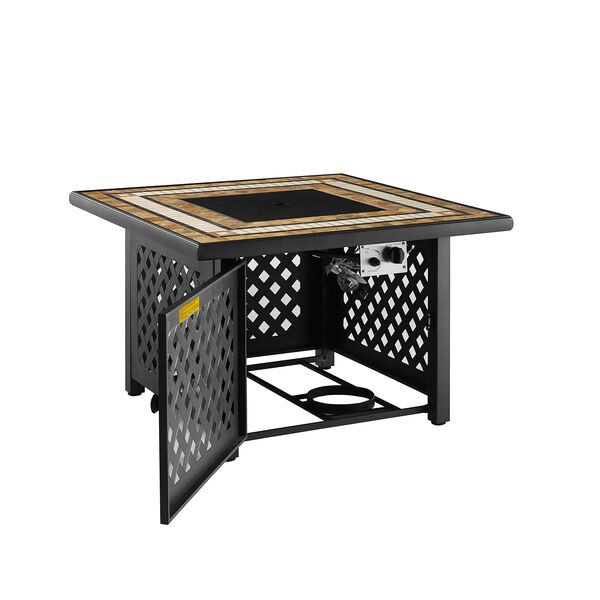 Tucson Brown 40-Inch Fire Table, image 3