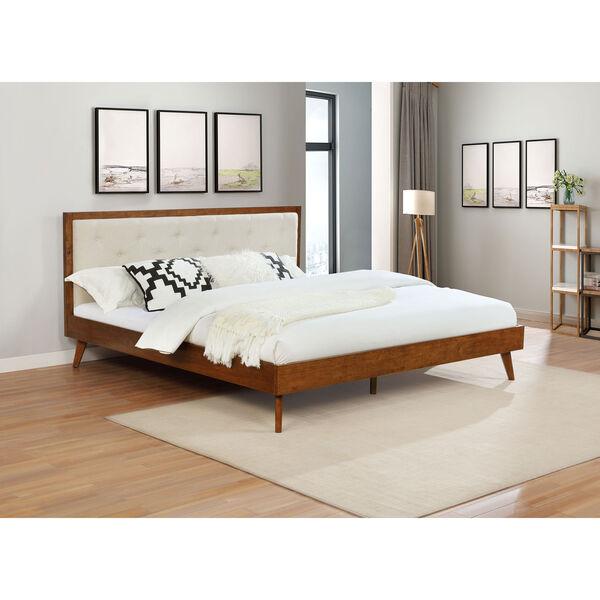 Ian Walnut Platform King Bed, image 5