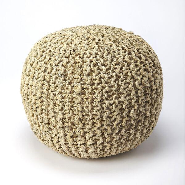 Pincushion Woolen Woven Round Pouf, image 1