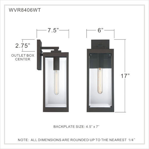 Pax Bronze 17-Inch One-Light Outdoor Lantern with Beveled Glass, image 6