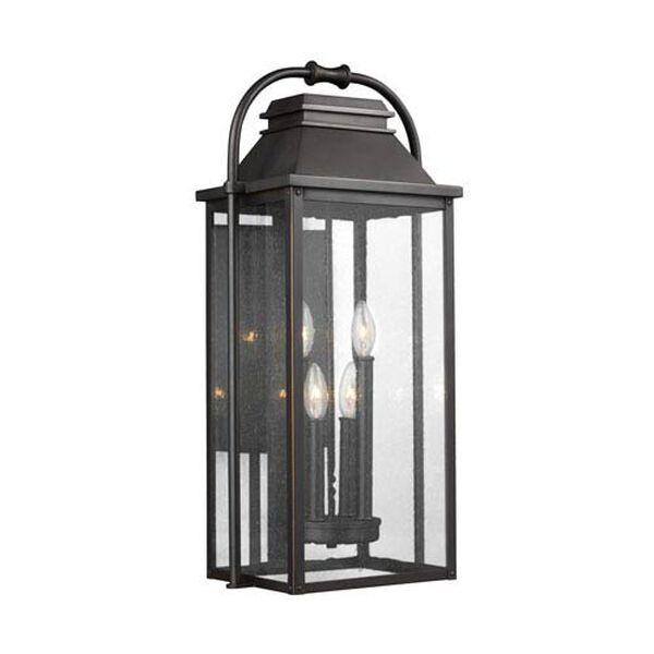 Buchanan Bronze Four-Light Outdoor Wall Lantern, image 1
