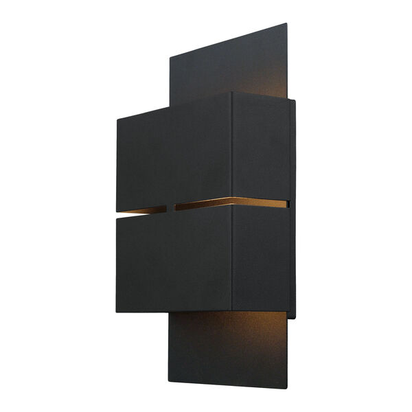 Kibea Matte Black Two-Light LED Outdoor Wall Sconce, image 1