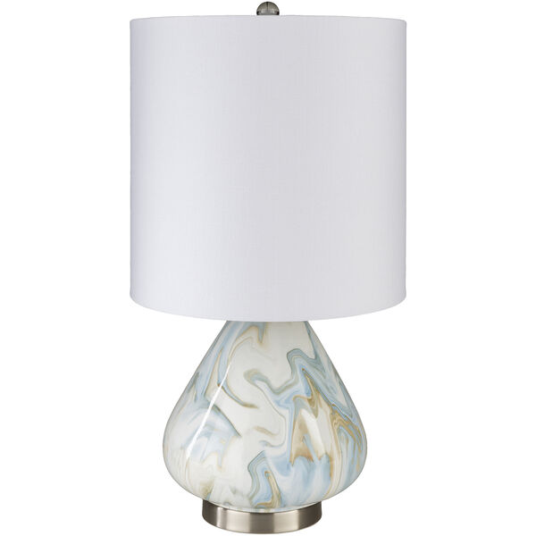 Orleans White and Blue One-Light Table Lamp, image 1