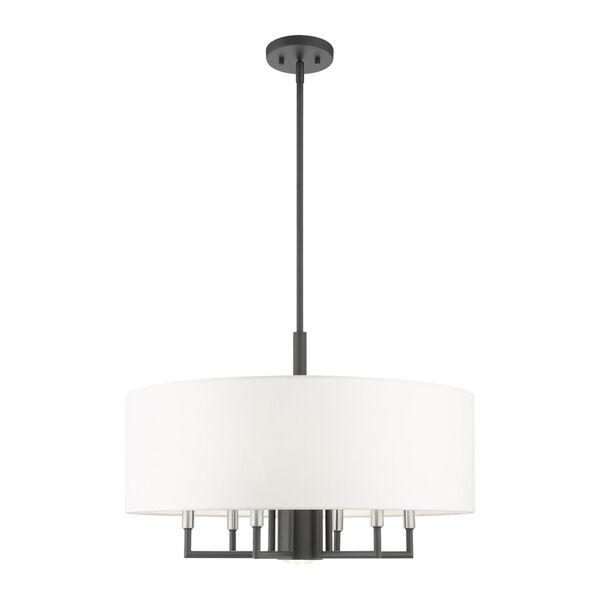 Meridian Scandinavian Gray Seven-Light Chandelier, image 1