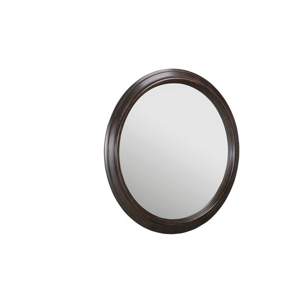 Lawrence Anabel Dark Cherry Round Mirror, image 2