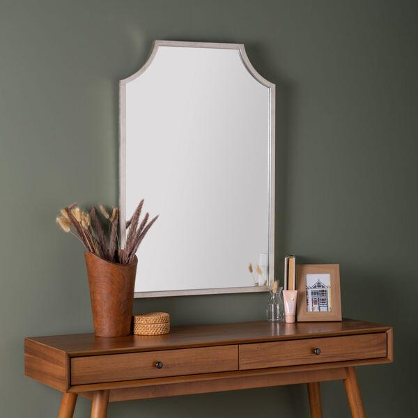 Simone Silver Leaf 36-Inch x 24-Inch Wall Mirror, image 1