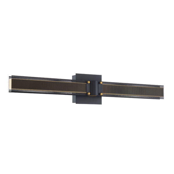 Admiral Matte Balck and Gold LED Wall Sconce, image 1