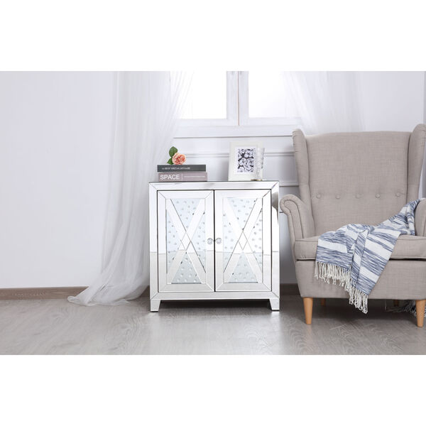 Modern Clear Crystal 28-Inch Cabinet, image 2