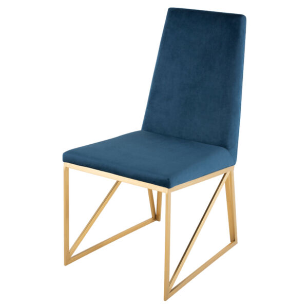 Caprice Peacock and Gold Dining Chair, image 1