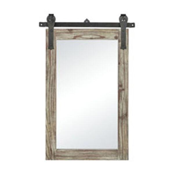 Los Olivos Salvaged Grey Oak and Bronze 36-Inch Mirror, image 1