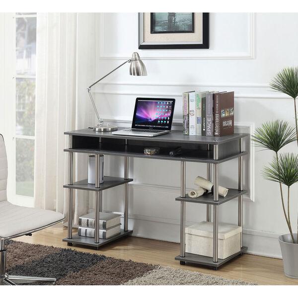 Designs2Go Charcoal Gray No Tools Student Desk, image 1