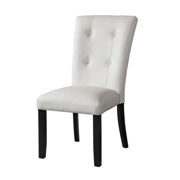 Markina White and Ebony Side Chair, image 2