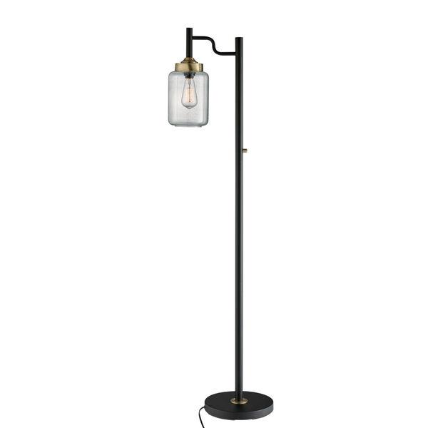 Luken Black One-Light Floor Lamp, image 1