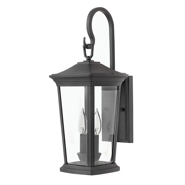Bromley Museum Black 20-Inch Two-Light Outdoor Small Wall Mount, image 1