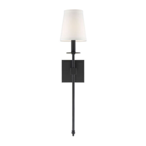 Linden Matte Black 24-Inch One-Light Wall Sconce, image 5