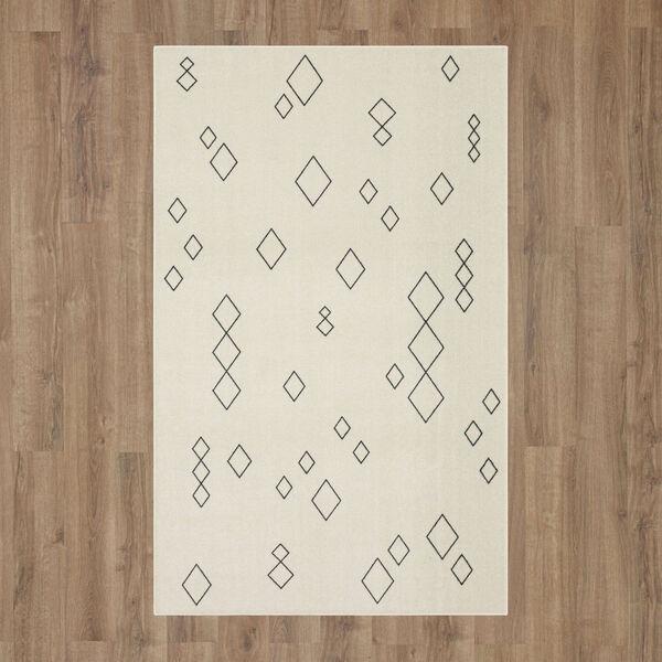 Shonto Ivory Neutral Geometric Diamond Rectangular: 2 Ft. x 3 Ft. Area Rug, image 2