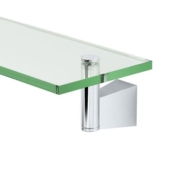 Bleu Chrome 20-Inch Glass Shelf, image 2