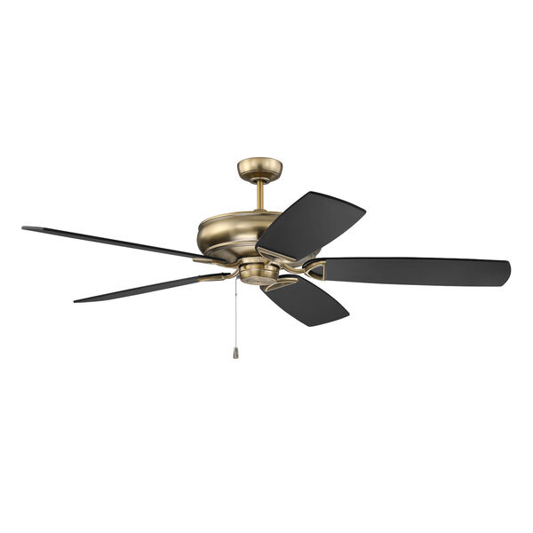Supreme Air Satin Brass 62-Inch Ceiling Fan, image 1