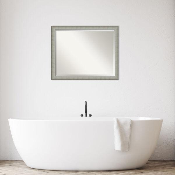 Elegant Pewter 31W X 25H-Inch Bathroom Vanity Wall Mirror, image 3