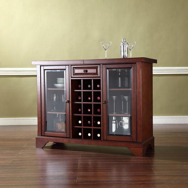 LaFayette Sliding Top Bar Cabinet in Vintage Mahogany Finish, image 1