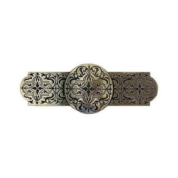 Brite Brass Renaissance Etch Pull, image 1