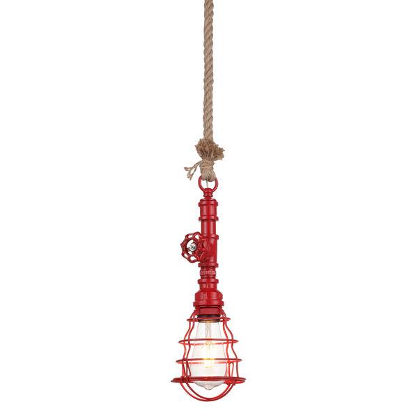 Element Powder Coated Red Led Mini Pendant, image 1