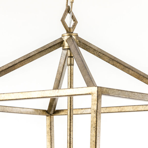 Vintage Gold 20-Inch Four-Light Pendant, image 6