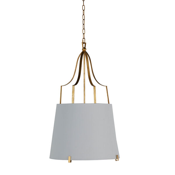 Arbella Vintage Gold and White Two-Light Pendant, image 2