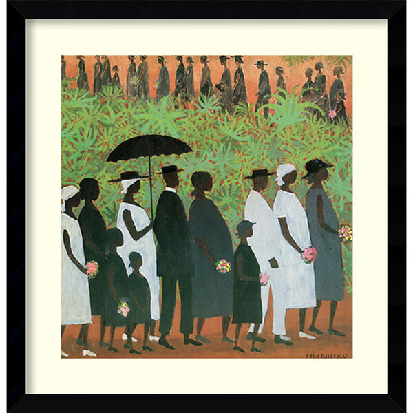 Funeral Procession by Ellis Wilson, 20 In. x 20 In. Framed Art, image 1