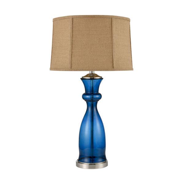 Drina Blue Polished Nickel One-Light Table Lamp, image 2