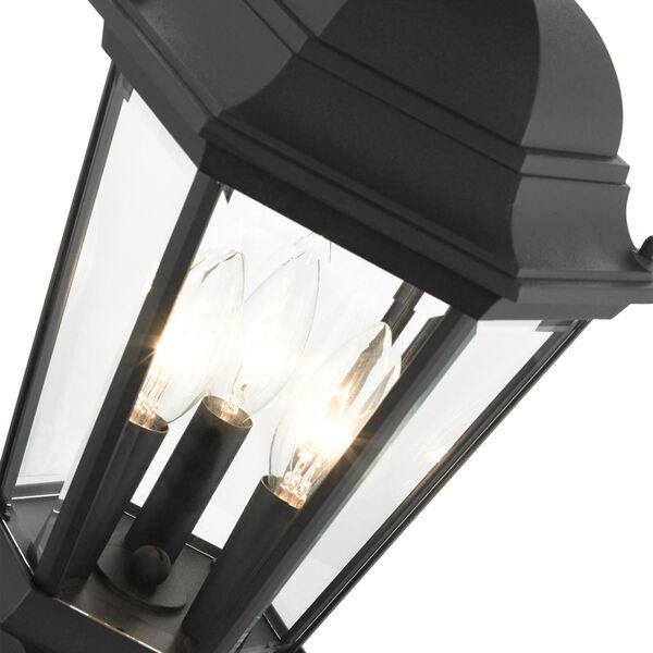 Hamilton Textured Black 10-Inch Three-Light Outdoor Post Lantern, image 6