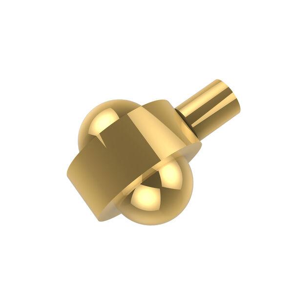 Cabinet Hardware Polished Brass Cabinet Knob 1-1/2 Inch, image 1