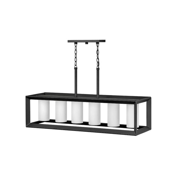 Rhodes Brushed Graphite Six-Light Outdoor Pendant, image 1