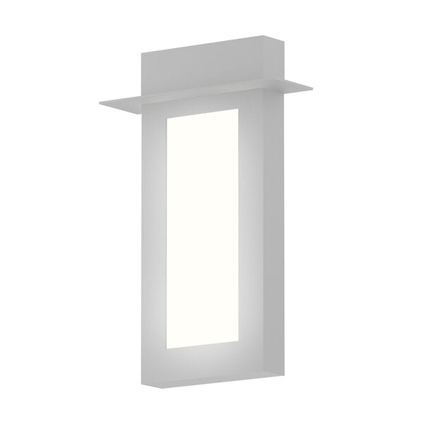 Inside-Out Prairie Textured White 18-Inch LED Wall Sconce with White Optical Acrylic Diffuser, image 1