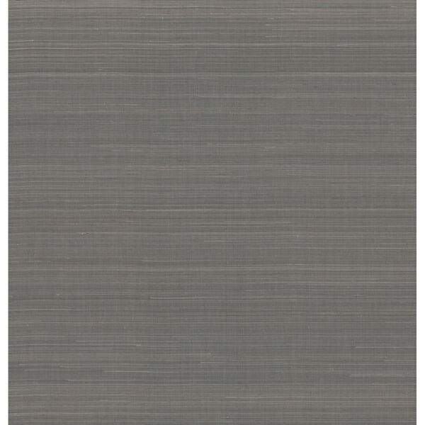 Antonina Vella Elegant Earth Charcoal Abaca Weaves Wallpaper, image 2