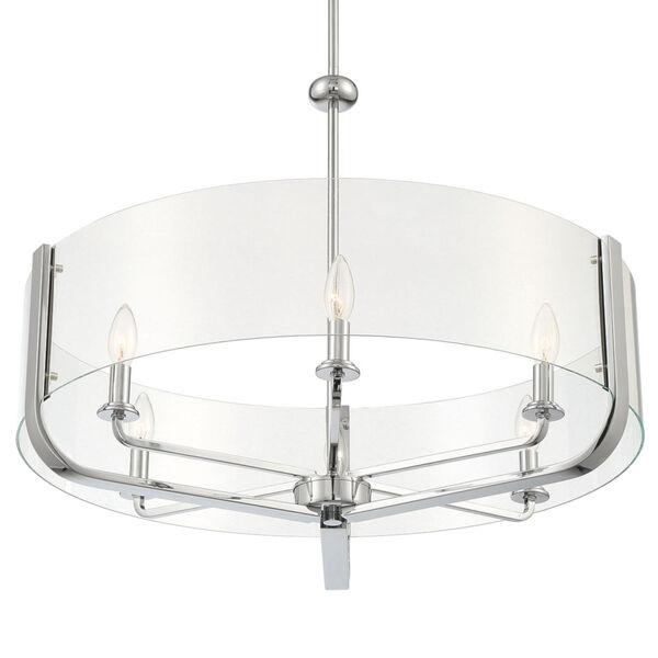Campisi Chrome Six-Light Chandelier, image 2