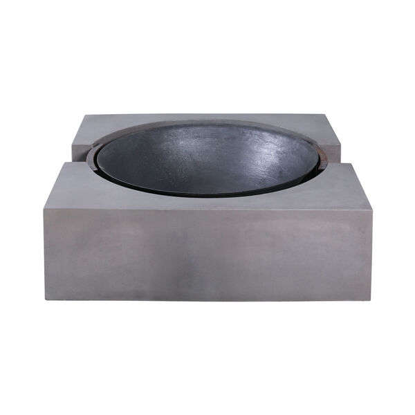 Volcano Polished Concrete Outdoor Fire Pit, image 2
