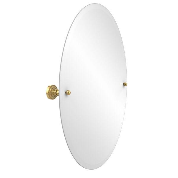 Dottingham Polished Brass Oval Tilt Mirror, image 1