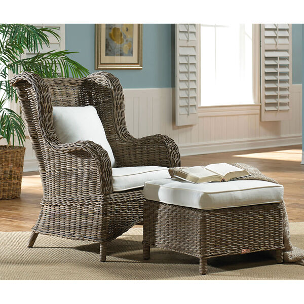 Exuma Two-Piece Occasional Chair with Ottoman, image 3