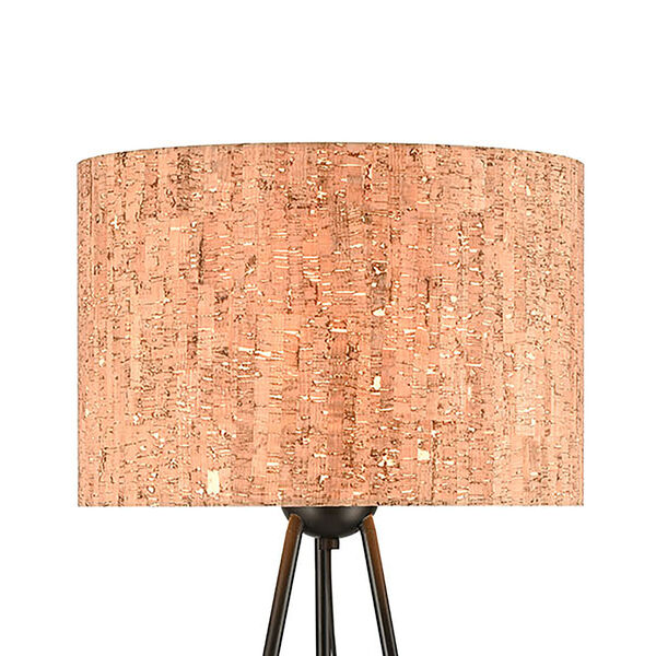 Flemming Matte Black One-Light Floor Lamp, image 3