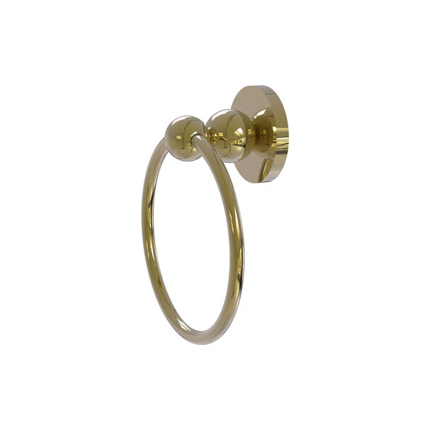 Bolero Unlacquered Brass Six-Inch Towel Ring, image 1
